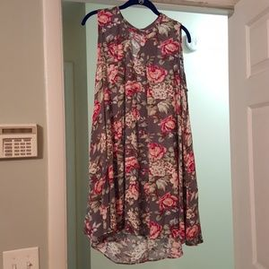 Umgee high low floral and flowy dress